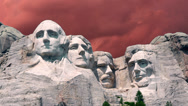 Stock Video Footage of Mount Rushmore Timelapse 2