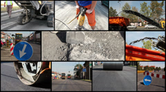 Road Construction Concept Stock Footage
