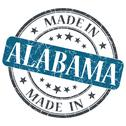 Stock Illustration of made in alabama blue round grunge isolated stamp