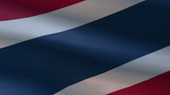 Thailand Flags 6 In 1 - stock footage