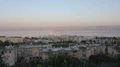 Stock Video Footage of Panoramic view of the biblical city of Tiberias