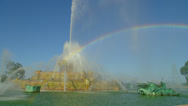Stock Video Footage of Beautiful Rainbow in Historic Fountain
