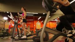 Young people exercising at the Gym Stock Footage
