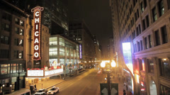 Chicago Theatre WS - stock footage