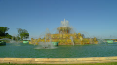Historic Fountain in Chicago Stock Footage