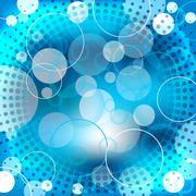 abstract blue background design with shapes - stock illustration