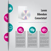 Abstract website template design with color peels Stock Illustration