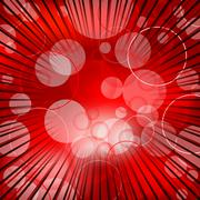 abstract red background design with bursting rays - stock illustration