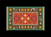 Stock Illustration of Carpet Green Red