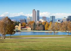 Downtown Denver on a Sunny Fall Day Stock Photos