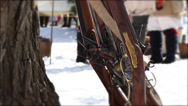 Stock Video Footage of Flintlock Muskets 2 (Revolutionary War)