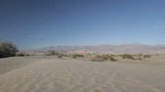 Sand Dunes in Death Valley, California Stock Footage