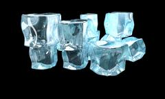Concept of ice on a dark background Stock Illustration