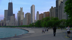 Lake Shore Drive at Dusk, Chicago Stock Footage
