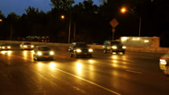 Stock Video Footage of Highway Traffic at Nighttime