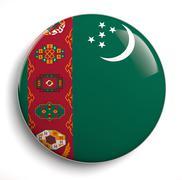 Turkmenistan flag Stock Photos