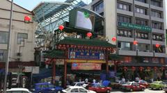 KUALA LUMPUR, MALAYSIA - FEBRUARY 4, 2014: Chinatown gate in KL Stock Footage