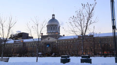 Domed Building at Old Port of Montreal Stock Footage