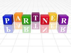 colour partner - stock illustration