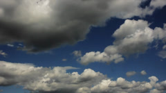 Clouds timelapse deep blue HD. Stock Footage