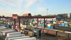 Alnabru Freight Terminal overview Stock Footage