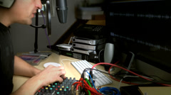 Radio Presenter On Air Stock Footage