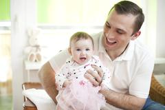 Father and his baby dauther - stock photo