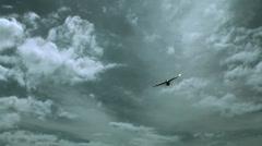 Sint Maarten Maho Beach 049 sport aircraft is landing Stock Footage