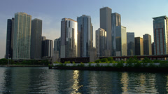 Chicago Skyline in Late Afternoon Stock Footage
