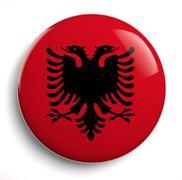 Albania flag Stock Photos