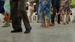 Salsa Dancers' Legs Dancing Stock Footage