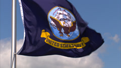 United States Navy Flag Waving Stock Footage