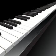 Piano key. Vector illustration. - stock illustration