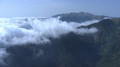 Aerial corsica clouds sky mountain Stock Footage