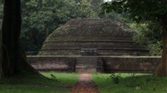 Chedi ruins in Sigiriya Stock Footage