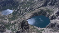 Stock Video Footage of aerial corsica lake melo capitello