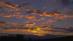 Colorful, Dramatic Sunset Stock Footage