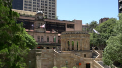 Stock Video Footage of Pan from the Shrine of Remembrance, ANZAC square, Brisbane