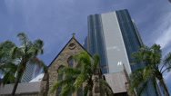 Stock Video Footage of The Cathedral of St Stephen downtown Brisbane