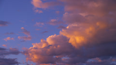 Beautiful Clouds at Sunset Stock Footage