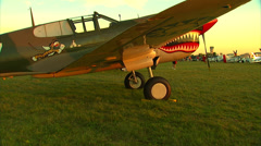 P-40 Warhawk Jib Shot Stock Footage