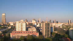 Warsaw time lapse - interval recording from roof Stock Footage