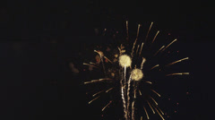 Fourth of July Fireworks in Slow-Motion - stock footage