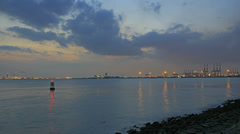 Port of Singapore from Labrador Park Time Lapse 1920x1080 Stock Footage