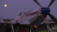 Stock Video Footage of P-51 Mustang Moon Rise
