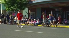 Crowd Waiting at Fourth of July Parade - stock footage