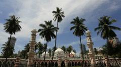Jamek Mosque Located in Kuala Lumpur Malaysia Time Lapse 1920x1080 Stock Footage