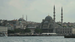 The banks of the Bosphorus in Istanbul, Turkey Stock Footage