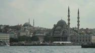 Stock Video Footage of The banks of the Bosphorus in Istanbul, Turkey
