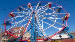 Winter Ferris Wheel Timelapse Stock Footage